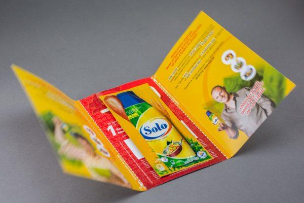 Musterprodukt Sachet auf Werbekarte